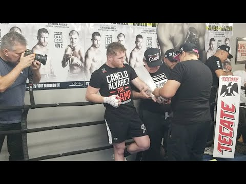 MONSTER! CANELO SIZE & POWER ON FULL DISPLAY @MEDIA WORKOUT!