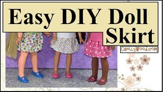 Free Doll Clothes Patterns: Sew A Skirt For Velvet 16 Inch Dolls (Crissy Cousin Doll)