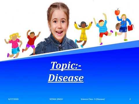 Science- Class 5- Disease