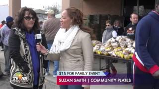 2015 $15 FOR FAMILY TURKEY DRIVE EVENT @COMMUNITY PLATES