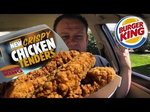 Burger King NEW! ☆CRISPY CHICKEN TENDERS☆ Food Review!!!