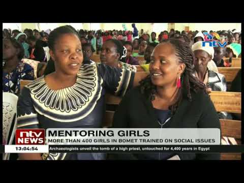 More than 400 girls in Bomet trained on social issues