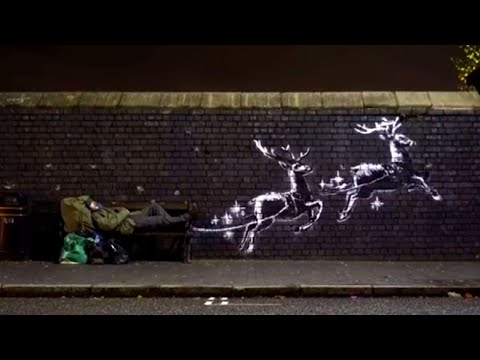 New Banksy Mural Shines Light on Homelessness