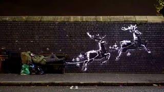 Vidéo : New Banksy Mural Shines Light on Homelessness. Until 1:31