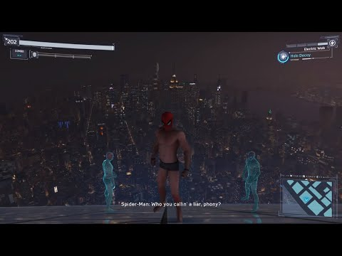 Spider-Man PS4 - Jumping Off Highest Building In Underwear Suit + Avengers Tower (All Weathers)