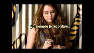 Miley Cyrus - I'll Always Remember You (español)