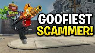 The Worlds Goofiest Scammer Ever Scams Himself! (Scammer Get Scammed) Fortnite Save The World