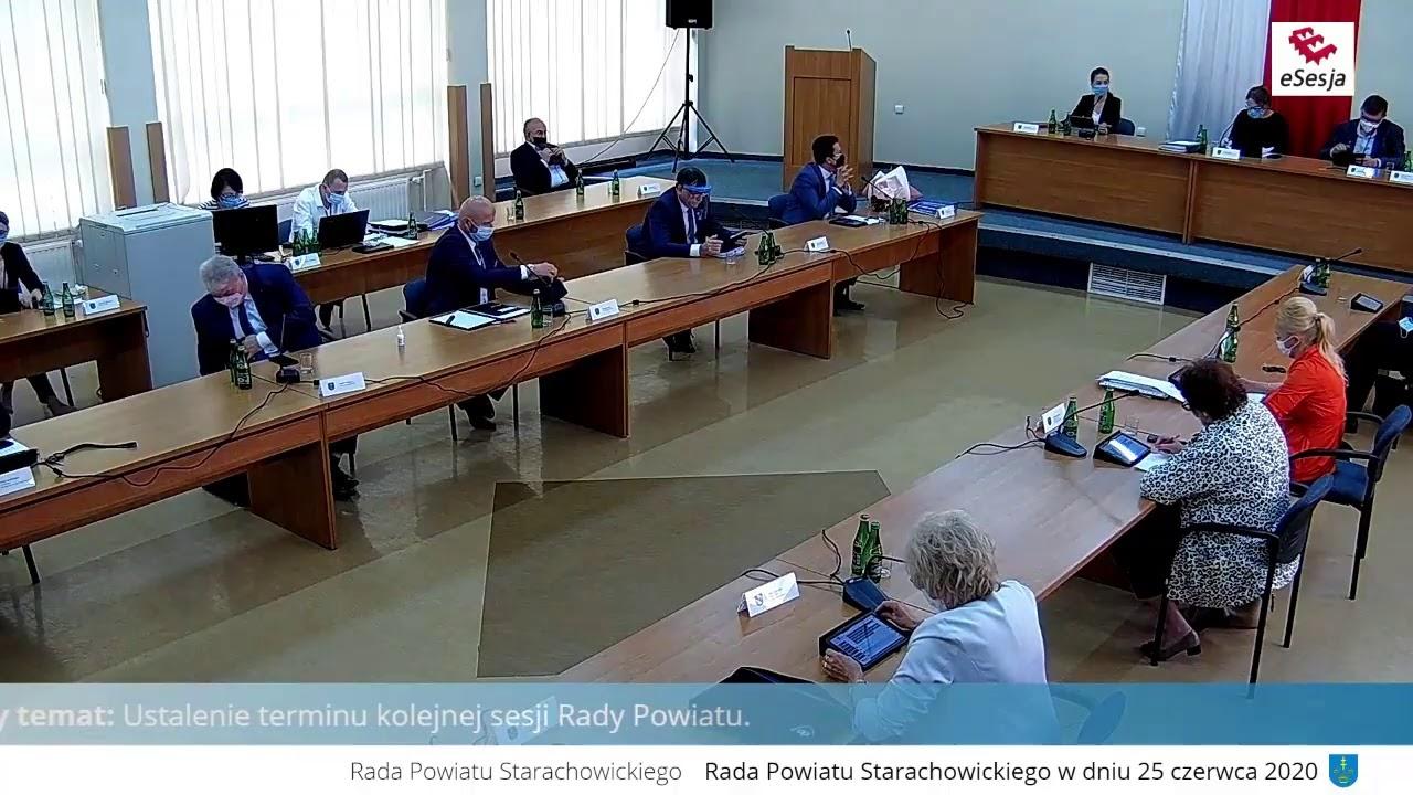 XXII Sesja Rady Powiatu w Starachowicach 25.06.2020 r.