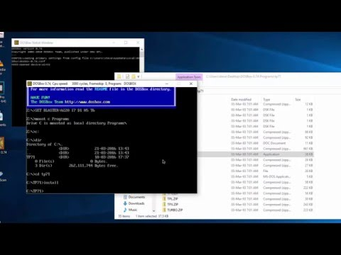 How to Install DosBox and Turbo Pascal 7.1 on Windows 10