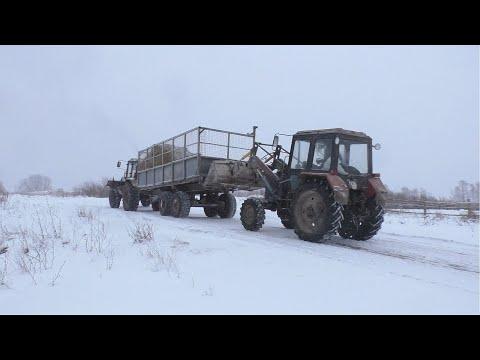В Колхозе 5 серия. ТТР 401 на транспортировке кормов