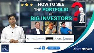 How to see the portfolio of BIG Investors?