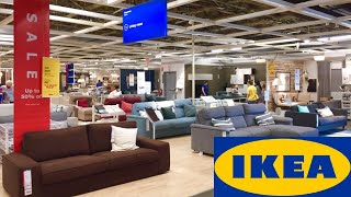 IKEA SOFAS COUCHES COFFEE TABLES FURNITURE HOME DECOR SHOP WITH ME SHOPPING STORE WALK THROUGH