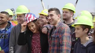 Governor Gretchen Whitmer visits Construction Career Days 2019