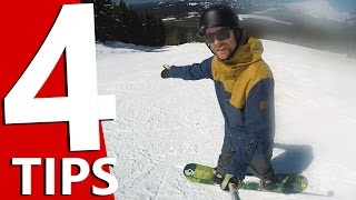 #33 Snowboard begginer – Tips to point your snowboard straight downhill