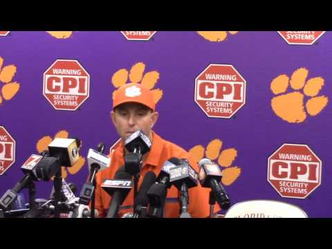TigerNet.com - Dabo Swinney FSU postgame press conference - Part 1
