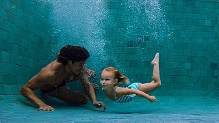 KIDS LEARN TO SWIM! Inspiration from Around the World! Kids and Baby Swim Lessons Underwater Routine