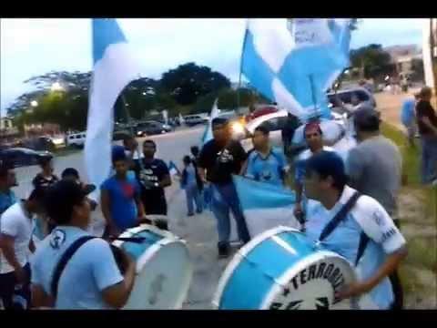 """""""La Terrorizer armando la fiesta en el primer partido de local  de la Jaiba Brava 13 09 14"""" Barra: La Terrorizer • Club: Tampico Madero"""