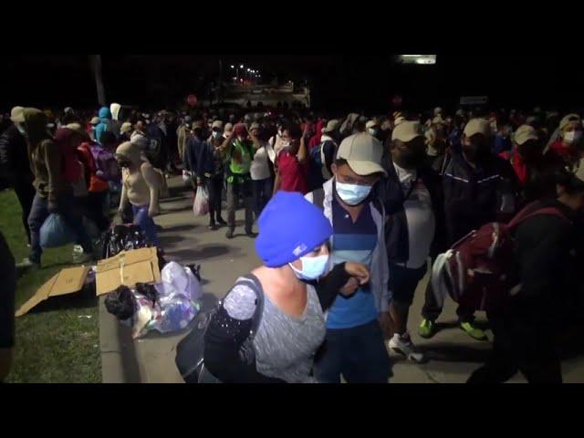 Nuevas caravanas de migrantes salen de Honduras rumbo a EEUU