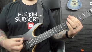 New Monuments Riff (Atlas Part II) Djent Guitar Lesson - John Browne Studio Update