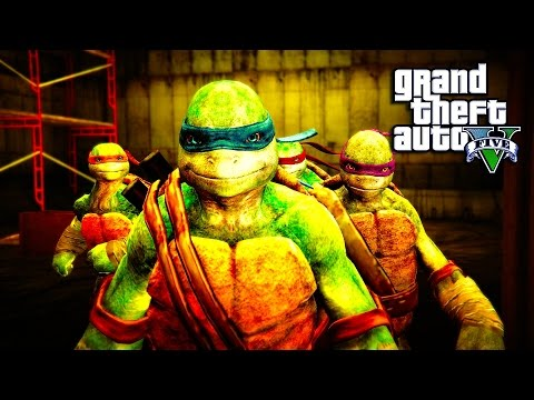 GTA 5 - Teenage Mutant Ninja Turtles PART 1