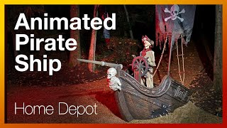 We Bought The Display Model!  Home Depots Animated Pirate Ship Halloween Decoration