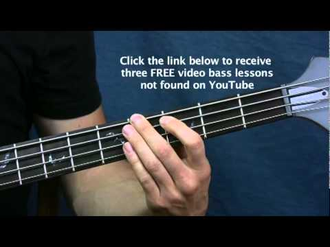 bass guitar lesson possum kingdom the toadies