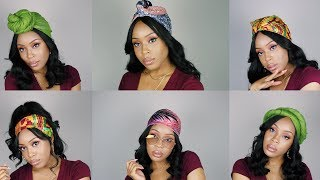 6 QUICK & EASY HEADWRAP/TURBAN STYLES FOR WIGS & WEAVES
