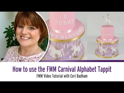 How to use the Carnival font Fondant Alphabet and Number Cutter Set from FMM Sugarcraft