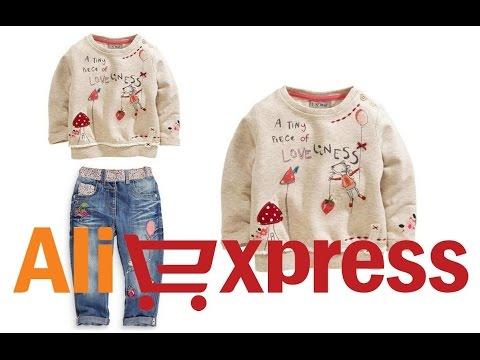 Модный детский костюмчик для девочки: кофточка и джинсы из Китая (aliexpress)