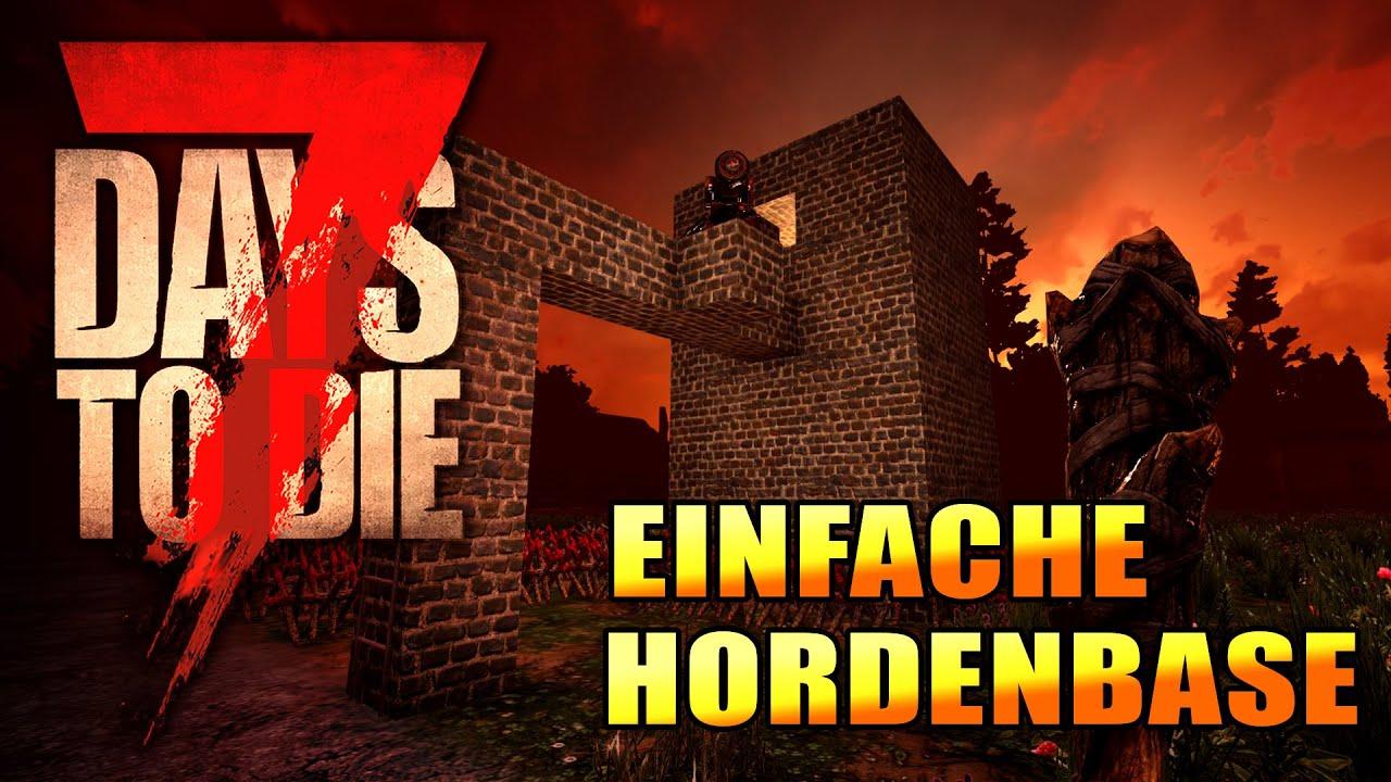 7 Days to Die 16 | Einfache Hordenbase bauen | Def Tower | Alpha 19 Gameplay Deutsch Tutorial thumbnail