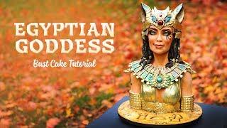 Egyptian Goddess Bust Cake Promo