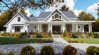 Architectural Designs Modern Country Craftsman Plan 16904WG VirtualTour