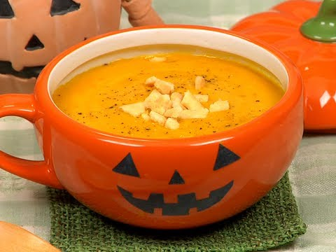 Pumpkin Potage Recipe (Delicious Halloween Soup with Sweet Kabocha Squash) | Cooking with Dog