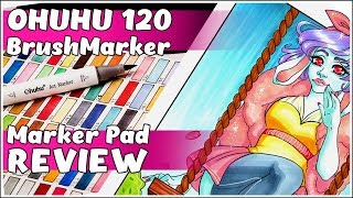 OHUHU BRUSH MARKERS 120 COUNT - Marker Review