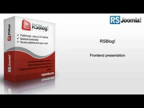 Ep. 38 - Introducing RSBlog! - blog extension for Joomla! - frontend presentation