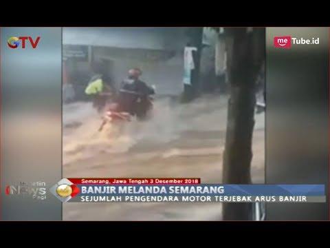 Ngeri! Pengendara Motor Terjebak dan Nyaris Terseret Banjir di Semarang - BIP 04/12