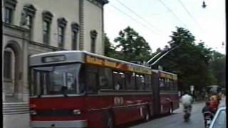 preview picture of video 'Winterthur Trolleybus 1989'