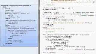 Cours d'informatique : Algorithme de Dijkstra (4/4). Auteure : Katia BARRE, professeure en CPGE au lycée Lesage (Vannes)