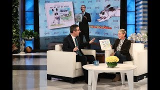 """Last Week Tonight"" host John Oliver chatted with Ellen about his new children's book featuring the Vice President's pet bunny... except with an LGBTQ twist."
