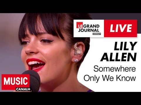 Lily Allen Somewhere Only We Know Live Du Grand Journal