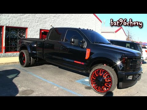 """ULTIMATE AUDIO: 2017 Ford F-350 Platinum Dually Truck on 28"""" Fuel Offroad Wheels & Tires - HD"""