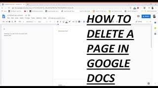 How to delete a page in Google Docs [2020]