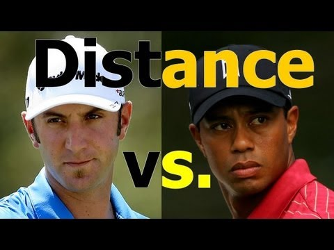 GOLF INSTRUCTION: How to Get More Distance: Dustin Johnson vs. Tiger Woods