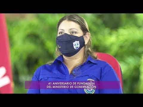 Comandante Daniel Ortega en el 41 aniversario del Ministerio de Gobernación