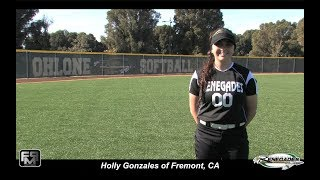2019 Holly Gonzales Left Handed Pitcher Softball Skills Video