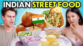 Trying Indian Street Food For The First Time! (Gulab Jamun, Panipuri, Bhel Puri, Aloo Tikki)