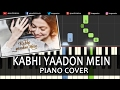 Kabhi Yaadon Mein Divya Khosla Kumar Hindi Song Piano Chords Tutorial Instrumental Karaoke By Ganesh