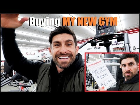 Buying Equipment For My NEW GYM! (alpha m. Vlog)