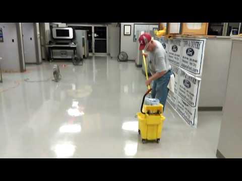 Waxing a vct floor