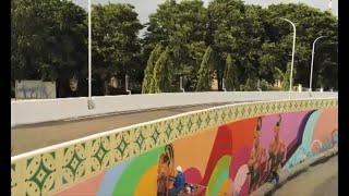 Seni Mural Berkonsep Klasik Futuristik Hiasi Jalan Layang Manahan Solo